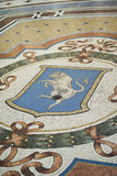 Mosaic bull in the floor of the Vittorio Emanuele Gallery, Milan Royalty Free Stock Image