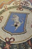 Mosaic bull in the Galleria Vittorio Emanuele in Milan Stock Image