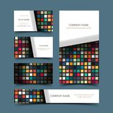 Mosaic business card set. Vector illustration 4 your design, eps10 5 layers Royalty Free Stock Photos