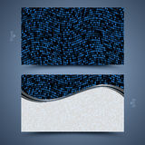 Blue business card template. Abstract  background  Royalty Free Stock Photography
