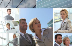 Mosaic of business people Royalty Free Stock Images