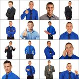 Mosaic of business people Stock Image
