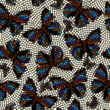 Mosaic with butterflies. Stock Photo