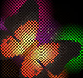 Mosaic butterfly. With place for text Royalty Free Stock Image