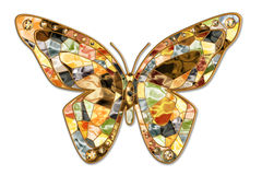 Mosaic butterfly Stock Image