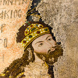 Mosaic of the Byzantine Emperor Isac I Komnenos royalty free stock photography