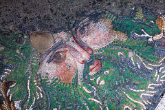 Mosaic from the Byzantine period in the Great Palace Mosaic Muse Royalty Free Stock Images