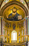 Mosaic Byzantine rite in Sicily Stock Photo