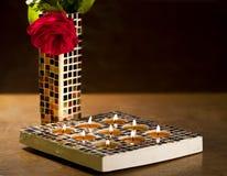 Mosaic candle holder Stock Photo