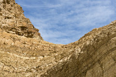 Mosaic Canyon, Death Valley National Park. Sky and rock formation Royalty Free Stock Photo