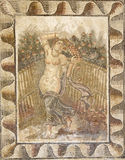 Mosaic - Carthage. Roman mosaic in the city of Carthage representing a Roman vestal. In Ancient Rome, the Vestal Virgins (sacerdos Vestalis), were the virgin Royalty Free Stock Images