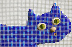 Mosaic cat Royalty Free Stock Photo