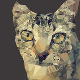 Mosaic cat. Design abstract background Stock Image