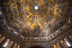 Mosaic ceiling of the Baptistry of San Giovanni, Florence Stock Image