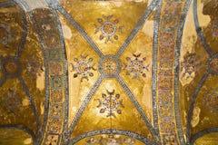 The mosaic ceiling in Hagia Sophia mosque Stock Image