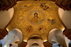 Mosaic ceiling in Jerusalem. Mosaic on the ceiling of the churches Royalty Free Stock Photo