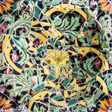 Mosaic ceramic tile, decoration in Park Guell, Barcelona, Spain. Royalty Free Stock Photo