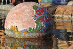 Mosaic Ceramic Tile Sphere royalty free stock image