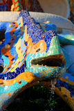 Mosaic chameleon in Park Guell Royalty Free Stock Photo