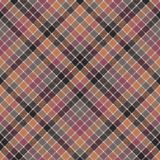Mosaic check plaid pixel fabric texture seamless pattern. Flat design. Vector illustration Royalty Free Stock Photos