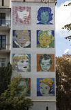 Mosaic with those children on the wall of an apartment house. On ul.Streletskoy. Kiev. Ukraine Royalty Free Stock Images