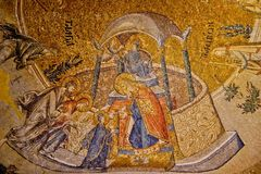 Mosaic. In Chora Church, Istanbul Stock Image
