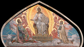 Mosaic Christ in Glory Stock Photography