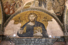 Mosaic of Christ in The Land of the Living in Chora Church, Ista Stock Image