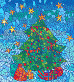 Mosaic Christmas Background for new year and Christmas greeting Royalty Free Stock Image