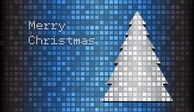 Mosaic christmas card. With tree Stock Photos