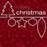 Mosaic Christmas Card Royalty Free Stock Image