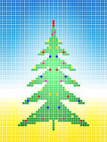 Mosaic Christmas tree Stock Image