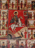 Mosaic in church of savior of Neredica, Novgorod, Russia Stock Photo