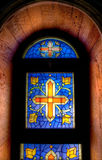 Mosaic church window Royalty Free Stock Photography