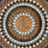 Mosaic circle floor Royalty Free Stock Image