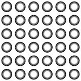 Mosaic of circles repeatable pattern - seamless background. Royalty free vector illustration Stock Photos