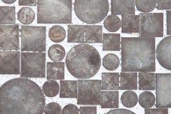 Mosaic of circles and squares Stock Photo