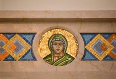 Mosaic Circular Green and Gold Royalty Free Stock Images