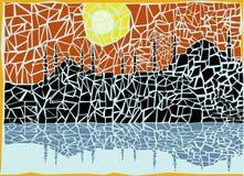 Mosaic city vector. Abstract background, mosaic city vector stock illustration