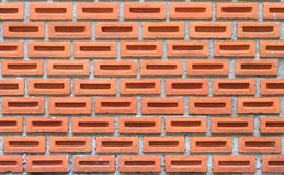 Mosaic clay brick wall Stock Photography
