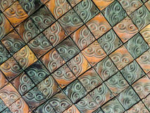 Mosaic clay wall tile Stock Photos