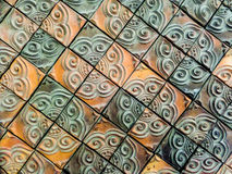 Mosaic clay wall tile Stock Images