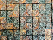 Mosaic clay wall tile Stock Photography