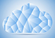 Mosaic cloud. Cloud, fragment, mosaic on blue sky with gradient and shadow Royalty Free Stock Image