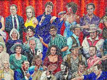 Mosaic Clusters of Famous Australian People Stock Image