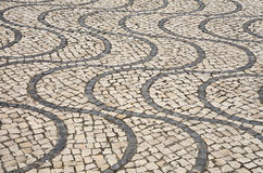 Mosaic cobble stone paving, Algarve, Portugal. Stock Photography