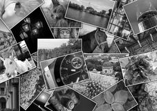 Mosaic collage with pictures of different places Royalty Free Stock Photos