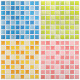 Mosaic color marble textures, tiles collage Stock Photography