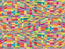 Mosaic color matrix op art. Illustration Stock Photo