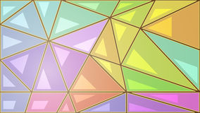 Mosaic of colored triangles Royalty Free Stock Photo